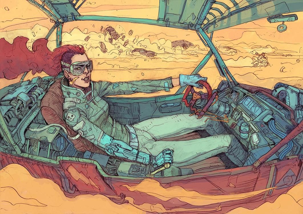 SCI Fi Cyberpunk Ilustração 04 - Josan Gonzalez