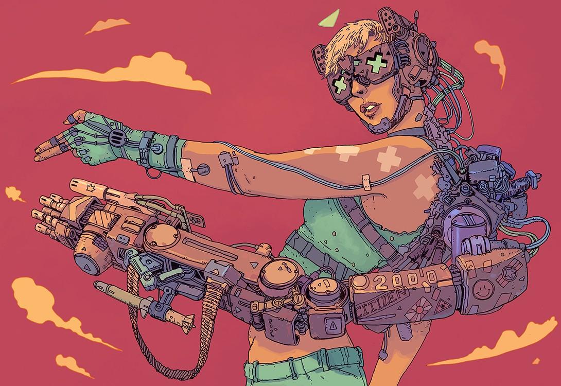 SCI Fi Cyberpunk Ilustração 07 - Josan Gonzalez