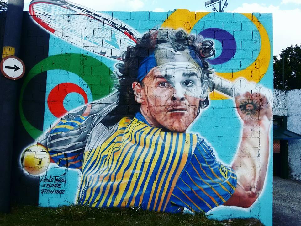 paulo terra graffiti realismo mural guga gustavo kuerten
