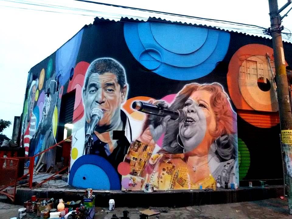 paulo terra graffiti realismo mural zeca pagodinho