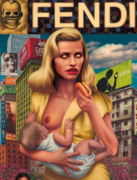 alex gross arte pintura oleo surrealismo pop dionisio arte (13)