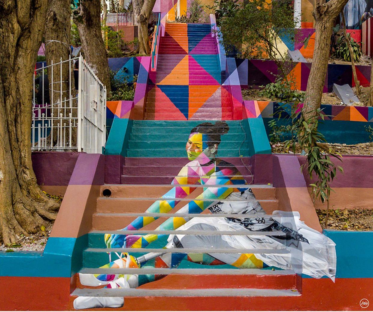 lele-gianetti-dionisio-arte-kobra-escadaria-das-bailarinas-pinheiros